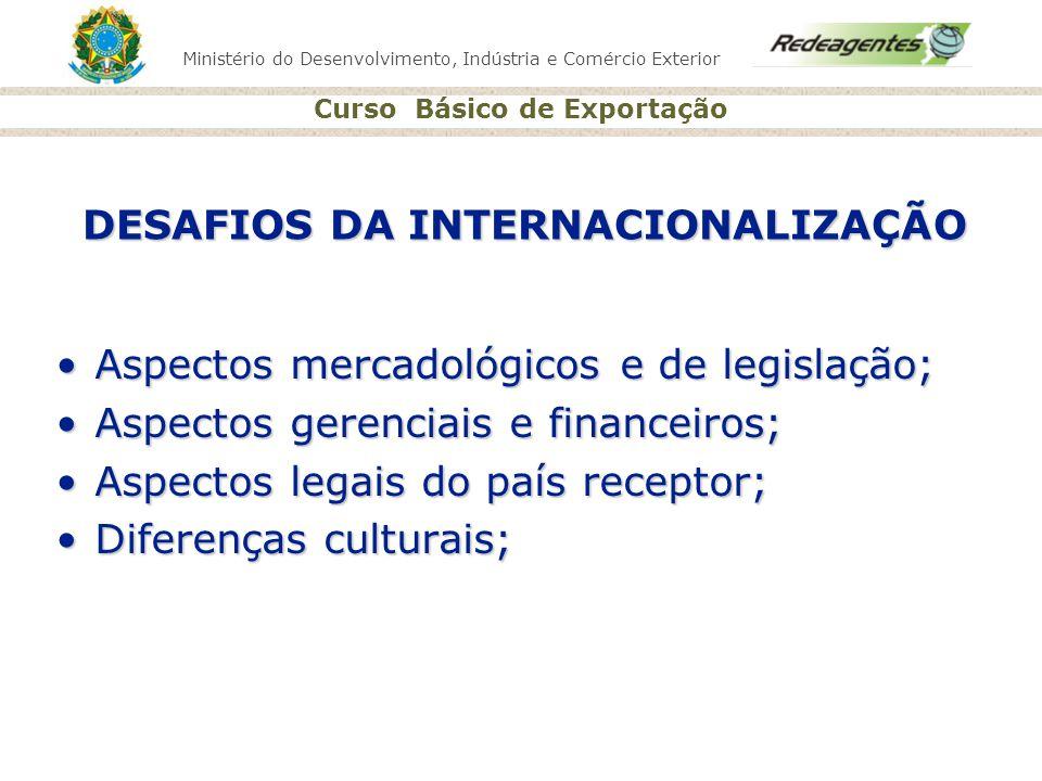 DESAFIOS DA INTERNACIONALIZAÇÃO