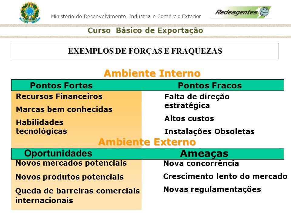 EXEMPLOS DE FORÇAS E FRAQUEZAS
