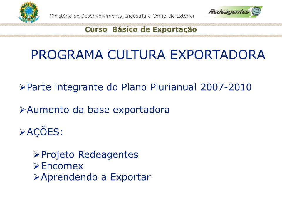 PROGRAMA CULTURA EXPORTADORA