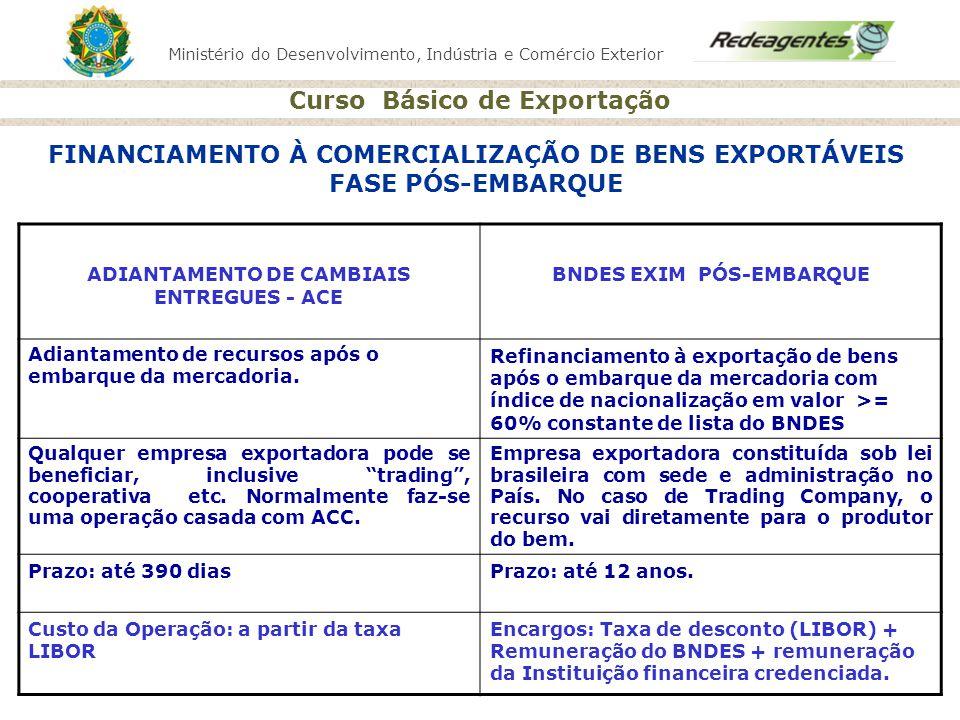 FINANCIAMENTO À COMERCIALIZAÇÃO DE BENS EXPORTÁVEIS FASE PÓS-EMBARQUE