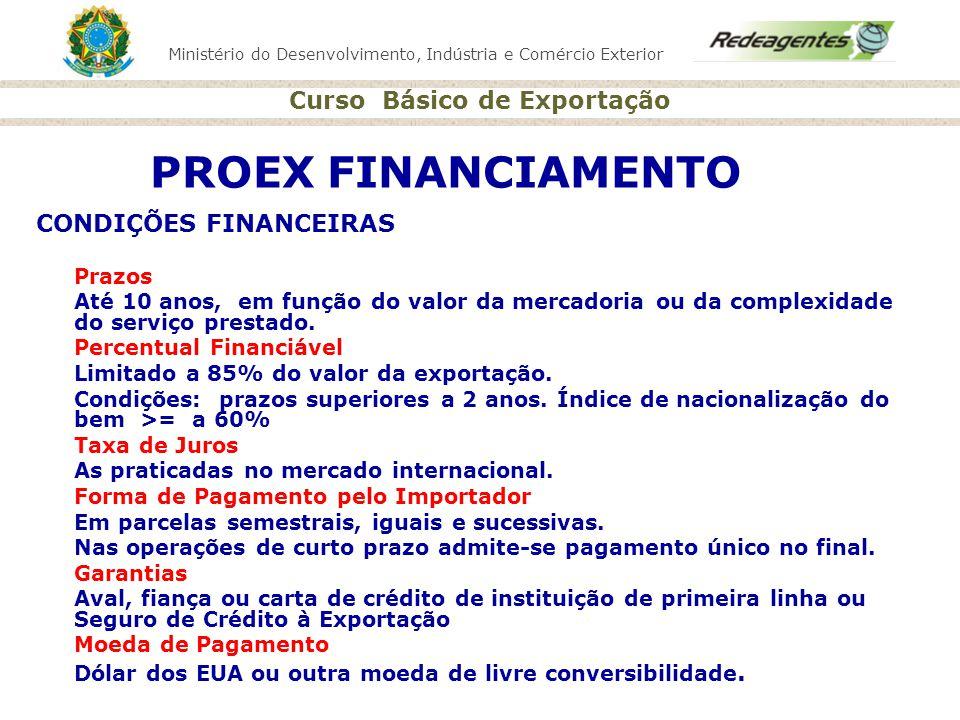 PROEX FINANCIAMENTO CONDIÇÕES FINANCEIRAS Prazos