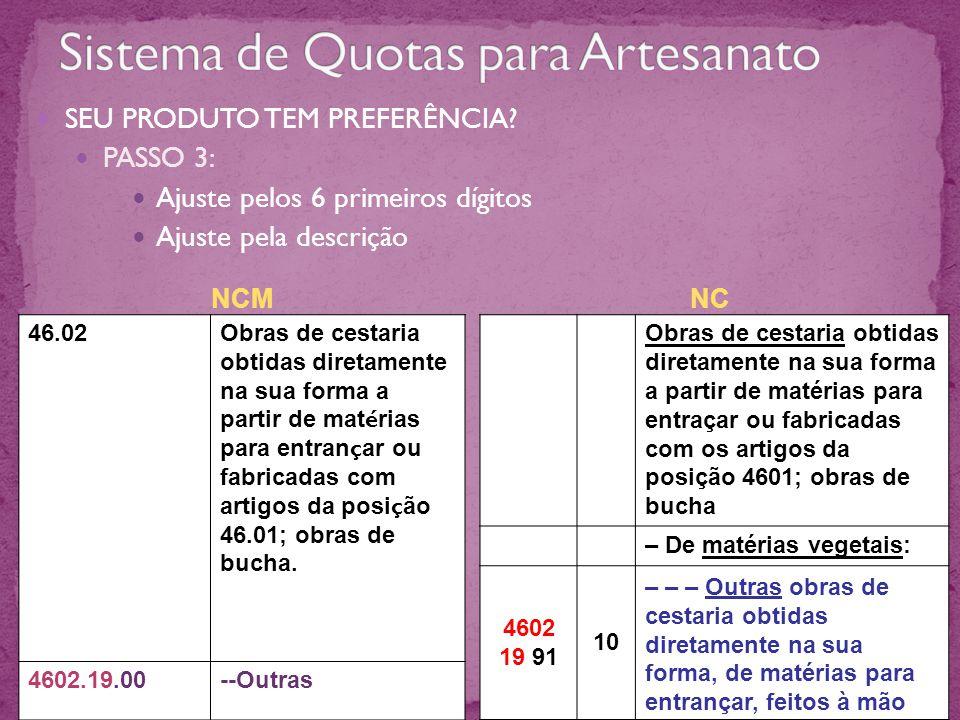 Sistema de Quotas para Artesanato