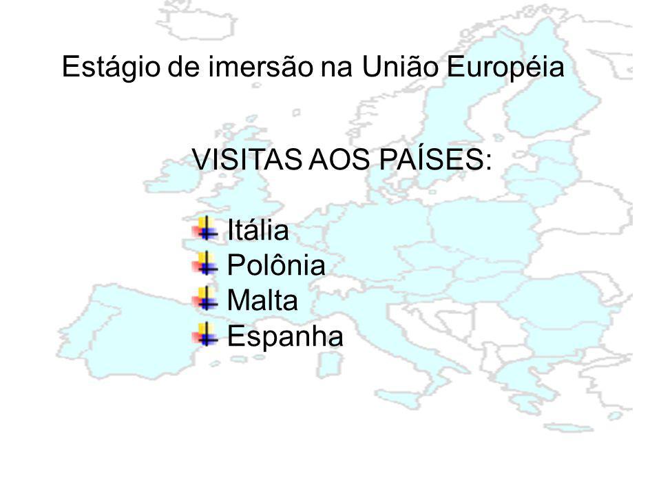 Estágio de imersão na União Européia