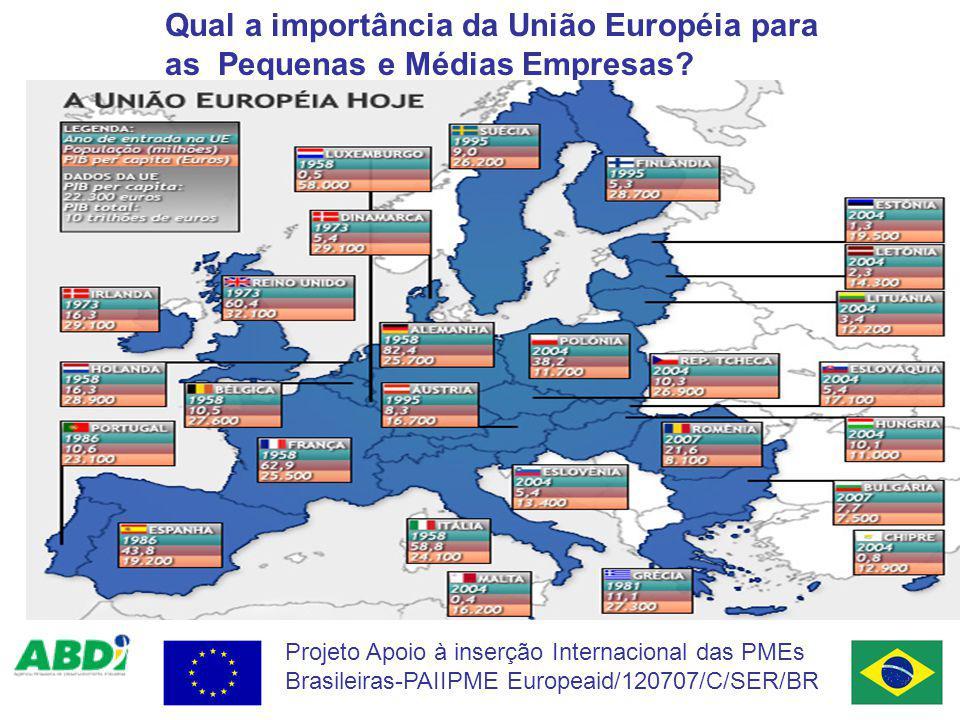Qual a importância da União Européia para as Pequenas e Médias Empresas