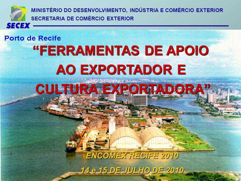 FERRAMENTAS DE APOIO AO EXPORTADOR E CULTURA EXPORTADORA