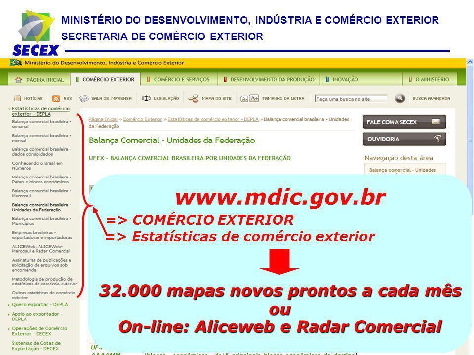 www.mdic.gov.br => COMÉRCIO EXTERIOR