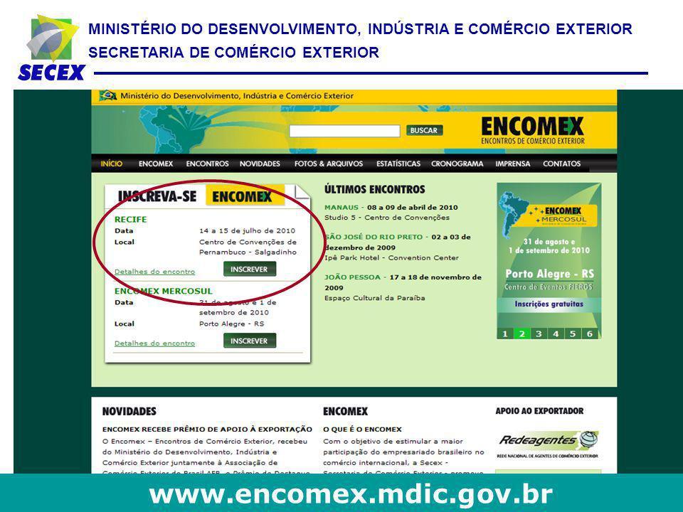 www.encomex.mdic.gov.br 36