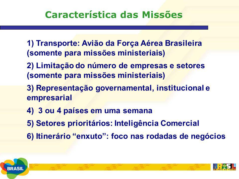 Característica das Missões