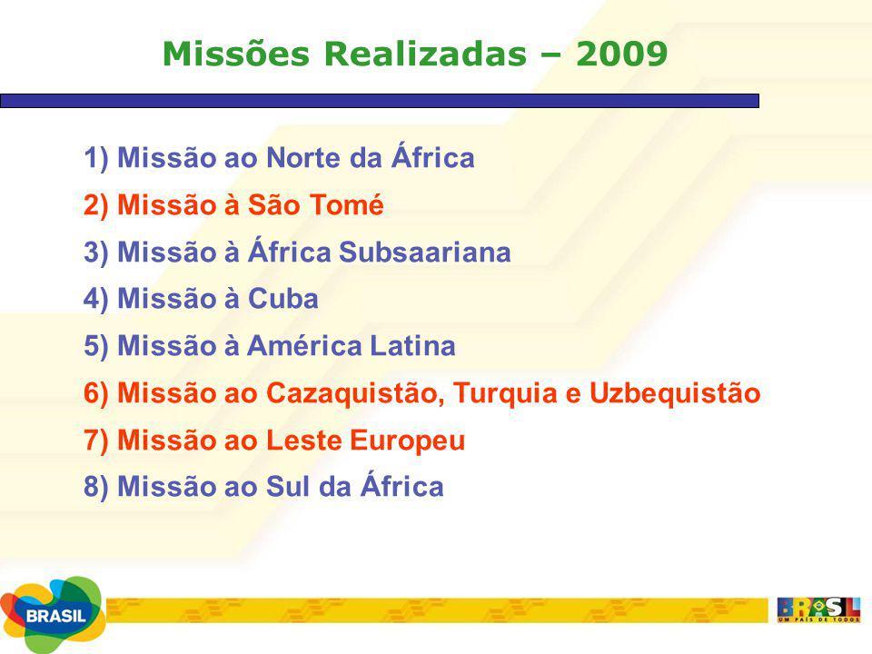 Missões Realizadas – 2009 1) Missão ao Norte da África