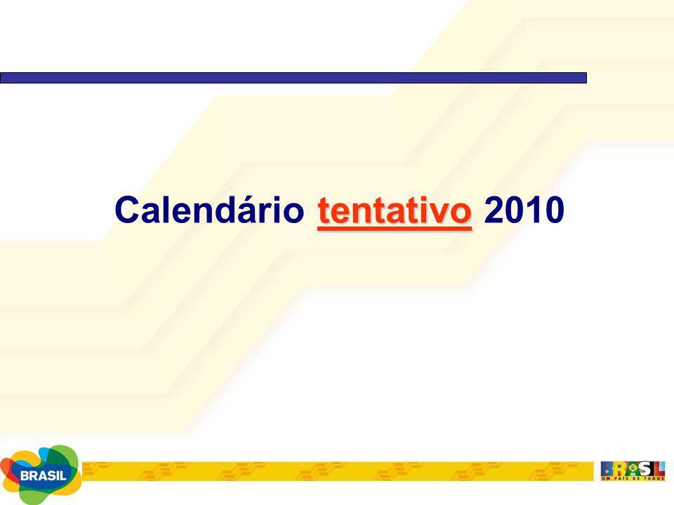 Calendário tentativo 2010