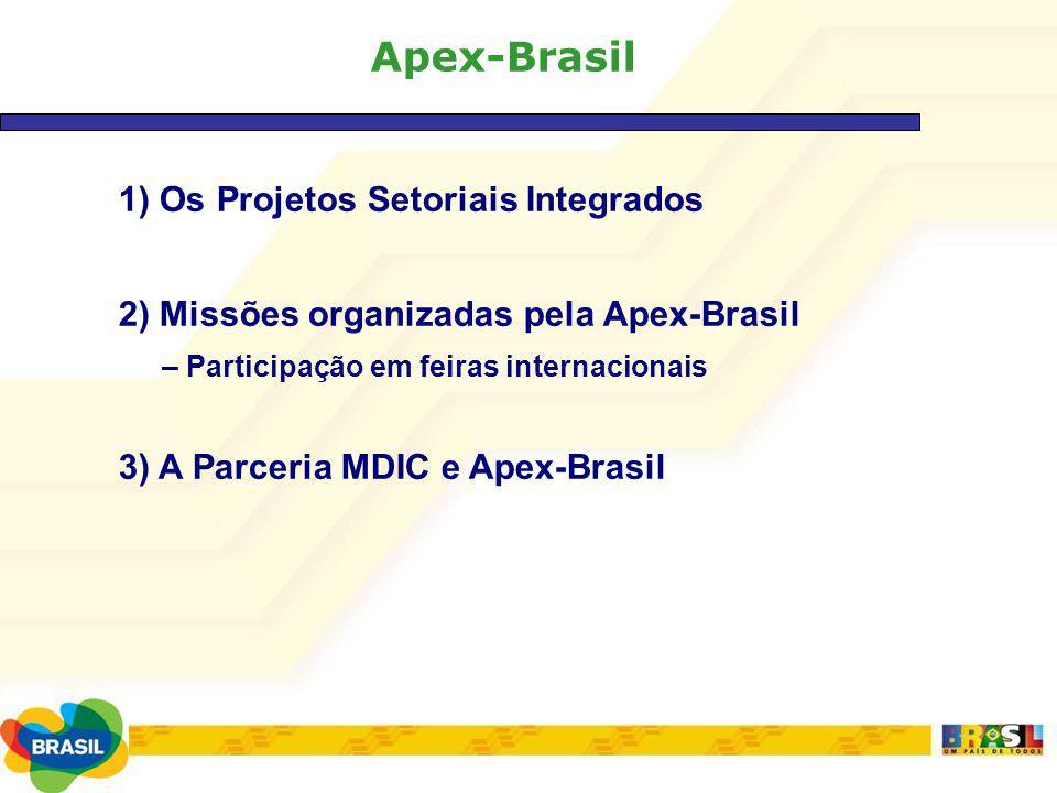 Apex-Brasil 1) Os Projetos Setoriais Integrados
