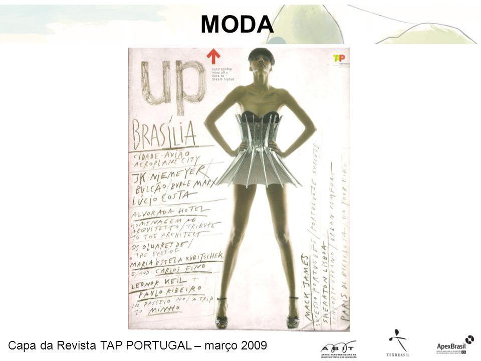 MODA Capa da Revista TAP PORTUGAL – março 2009