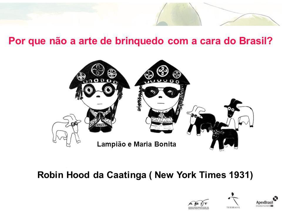 Por que não a arte de brinquedo com a cara do Brasil