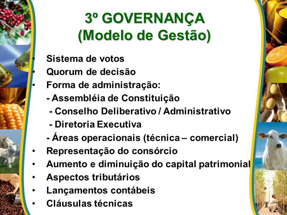 3º GOVERNANÇA (Modelo de Gestão)