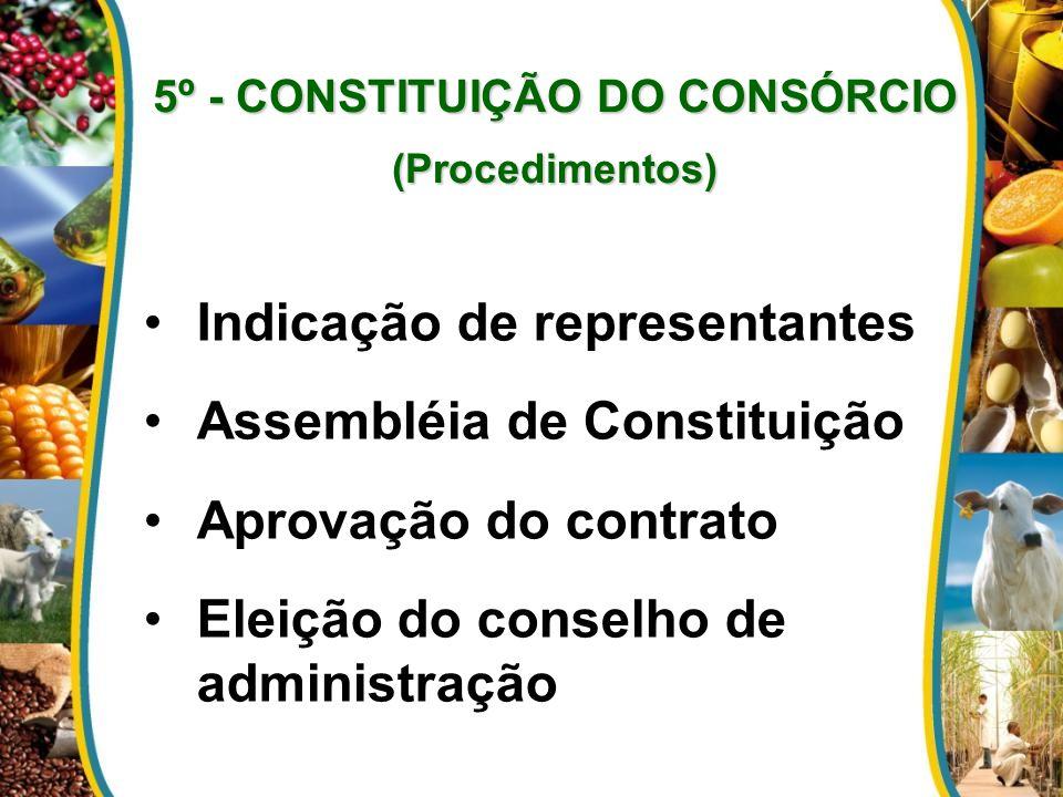 5º - CONSTITUIÇÃO DO CONSÓRCIO (Procedimentos)