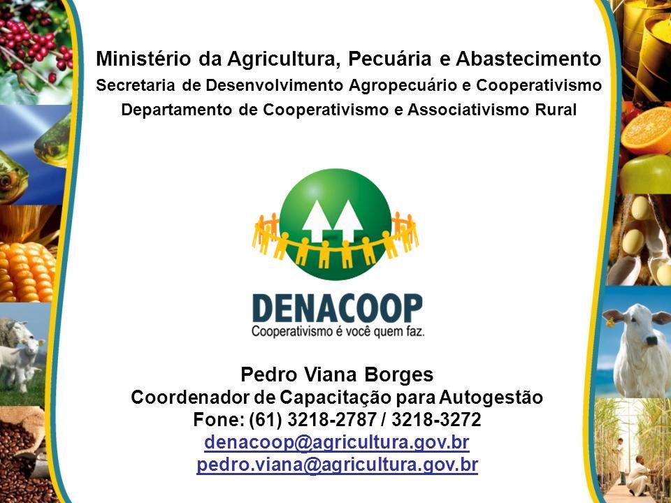 Ministério da Agricultura, Pecuária e Abastecimento Pedro Viana Borges