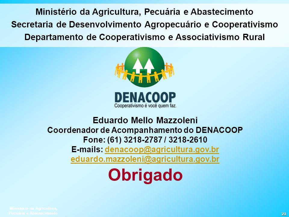 Obrigado Ministério da Agricultura, Pecuária e Abastecimento
