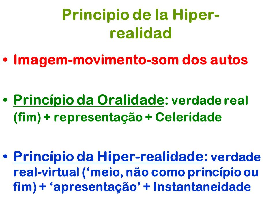 Principio de la Hiper-realidad