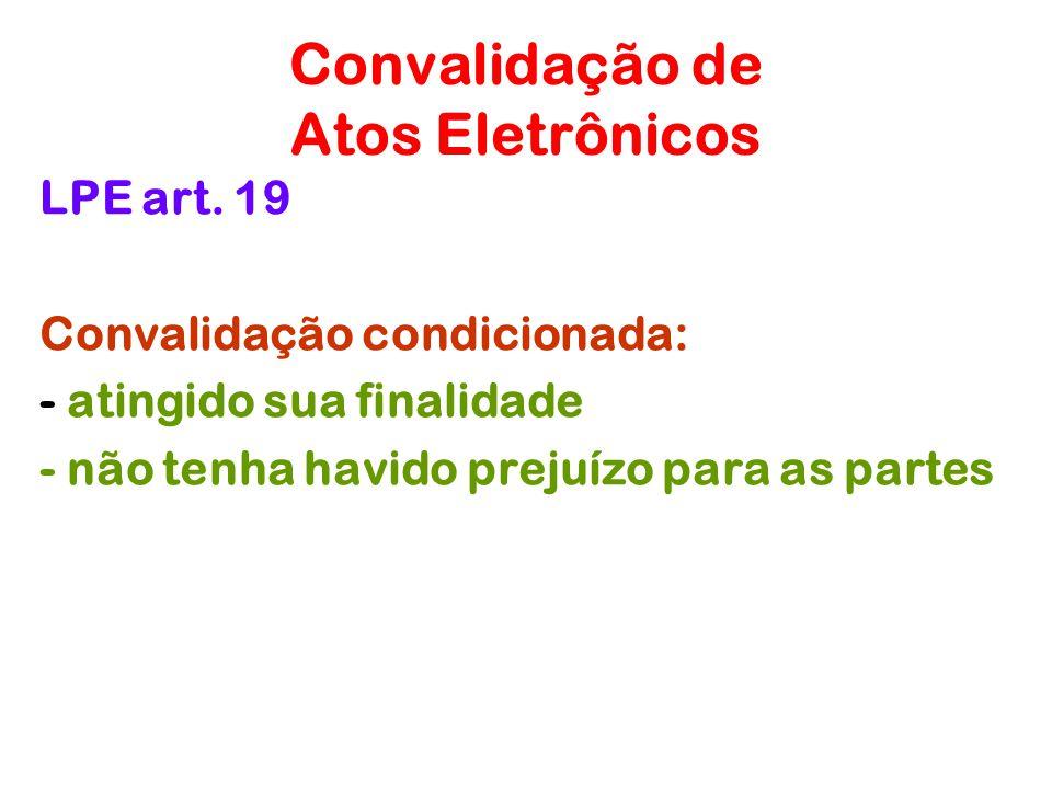 Convalidação de Atos Eletrônicos