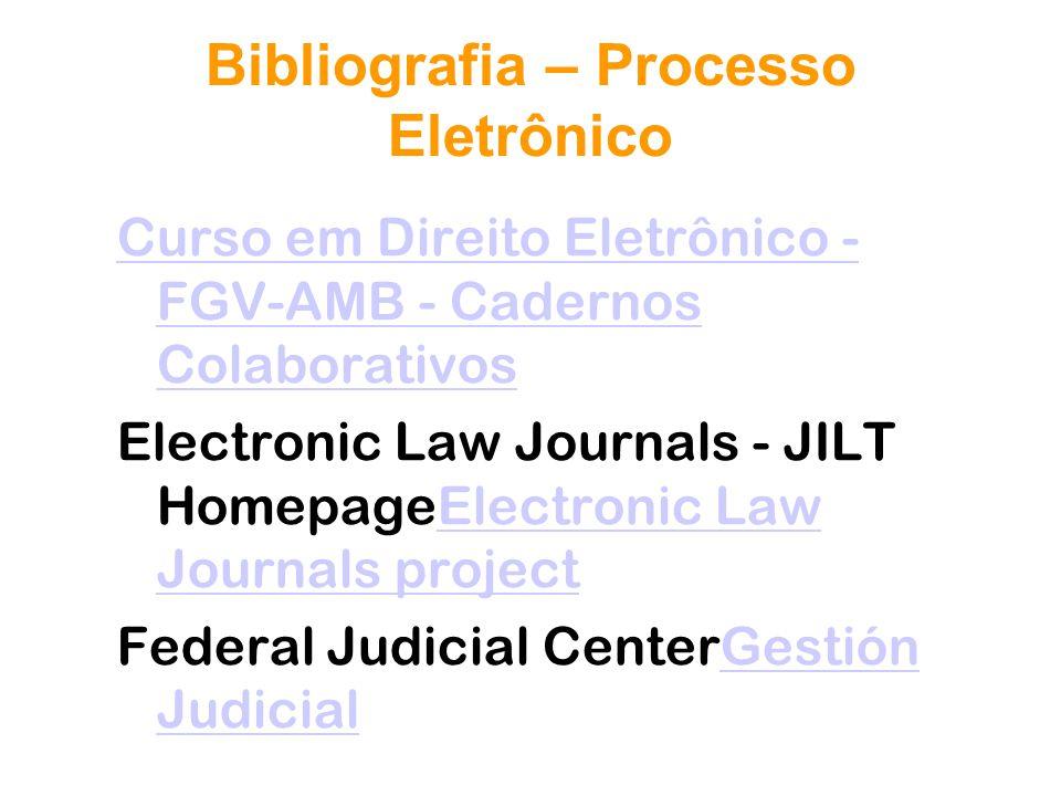 Bibliografia – Processo Eletrônico