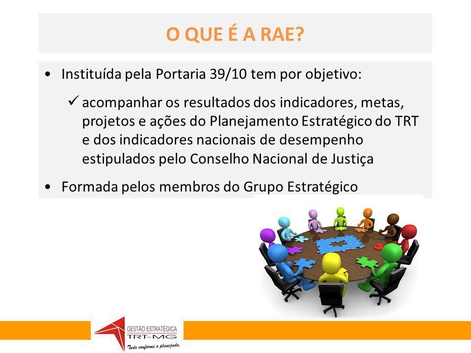 O QUE É A RAE Instituída pela Portaria 39/10 tem por objetivo: