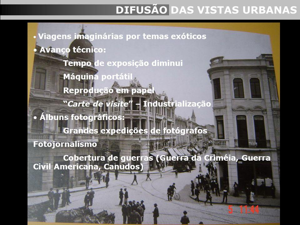 DIFUSÃO DAS VISTAS URBANAS