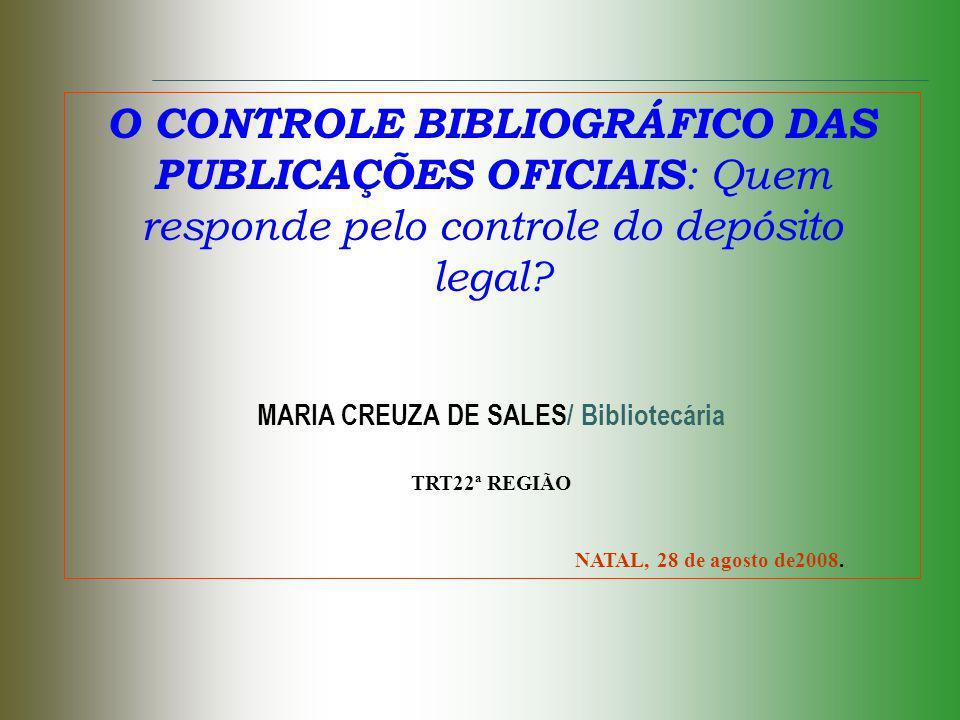 MARIA CREUZA DE SALES/ Bibliotecária