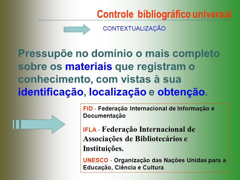 Controle bibliográfico universal