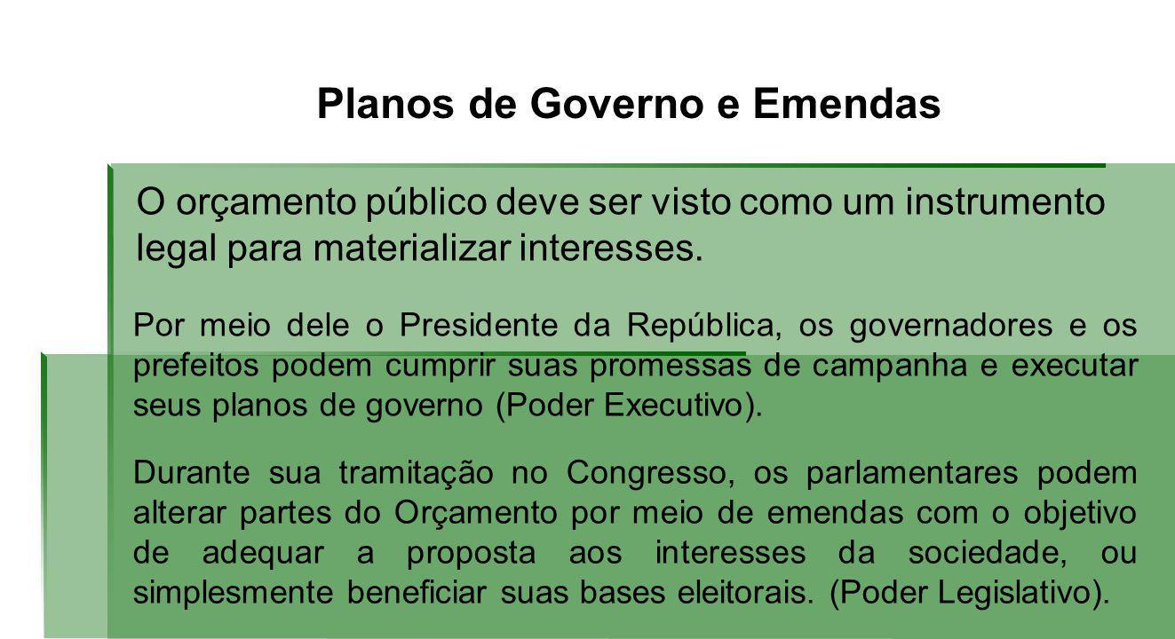 Planos de Governo e Emendas