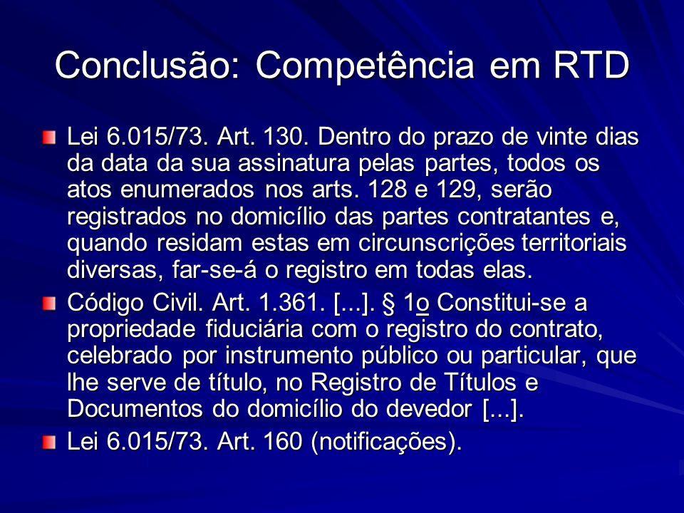Conclusão: Competência em RTD