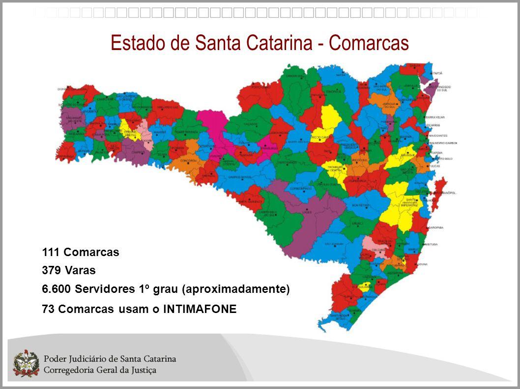 Estado de Santa Catarina - Comarcas