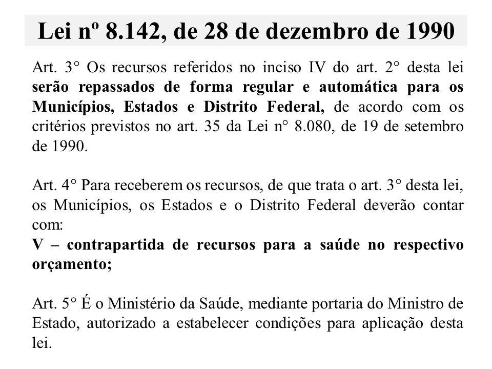 Lei nº 8.142, de 28 de dezembro de 1990
