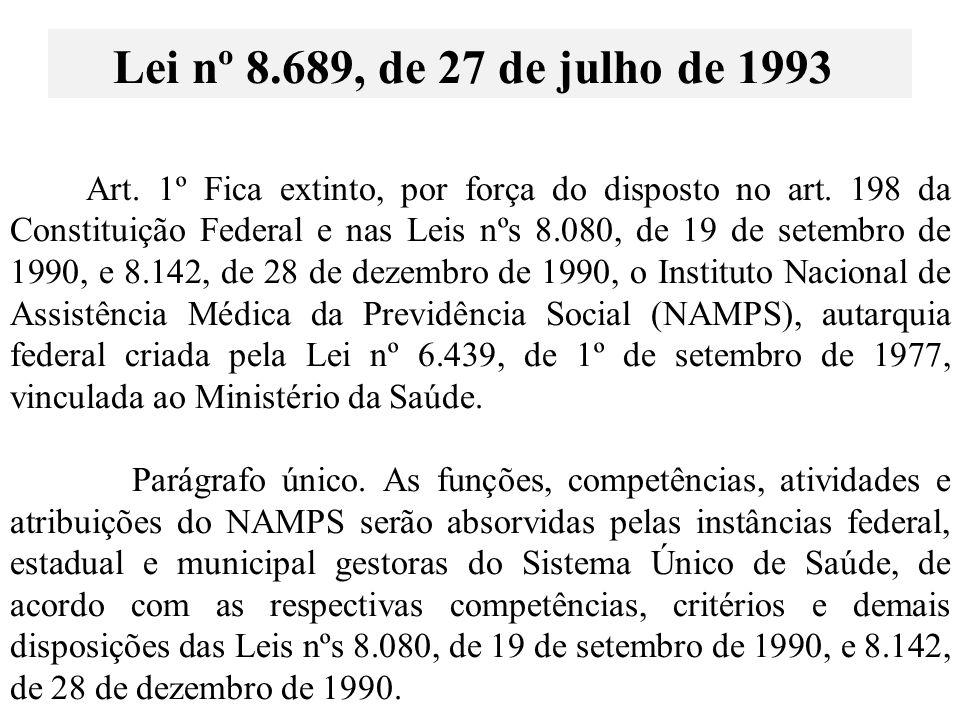 Lei nº 8.689, de 27 de julho de 1993