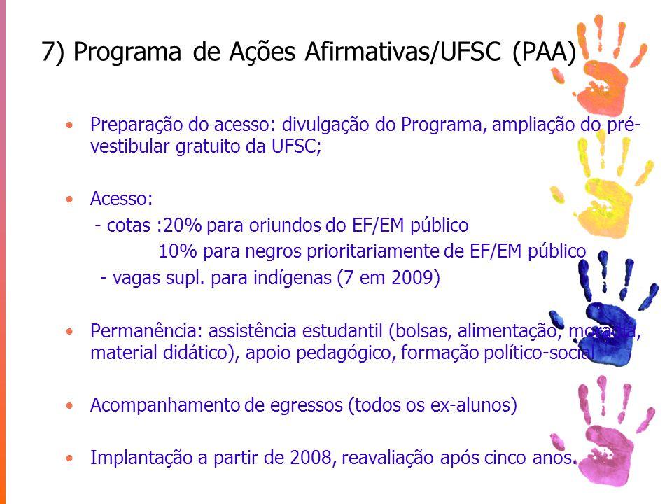 7) Programa de Ações Afirmativas/UFSC (PAA)