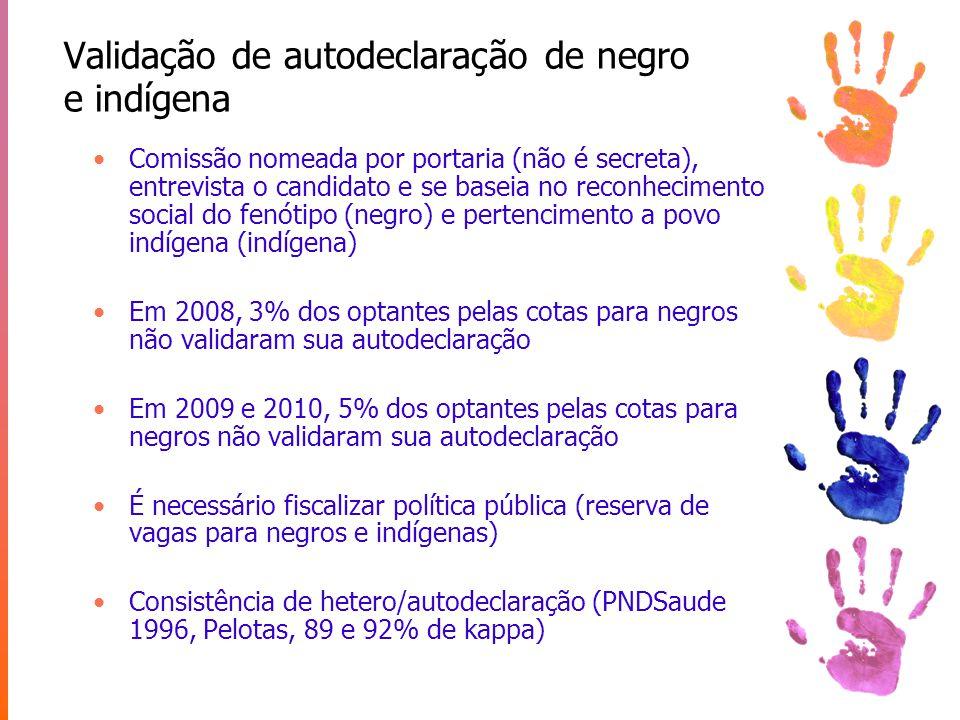 Validação de autodeclaração de negro e indígena