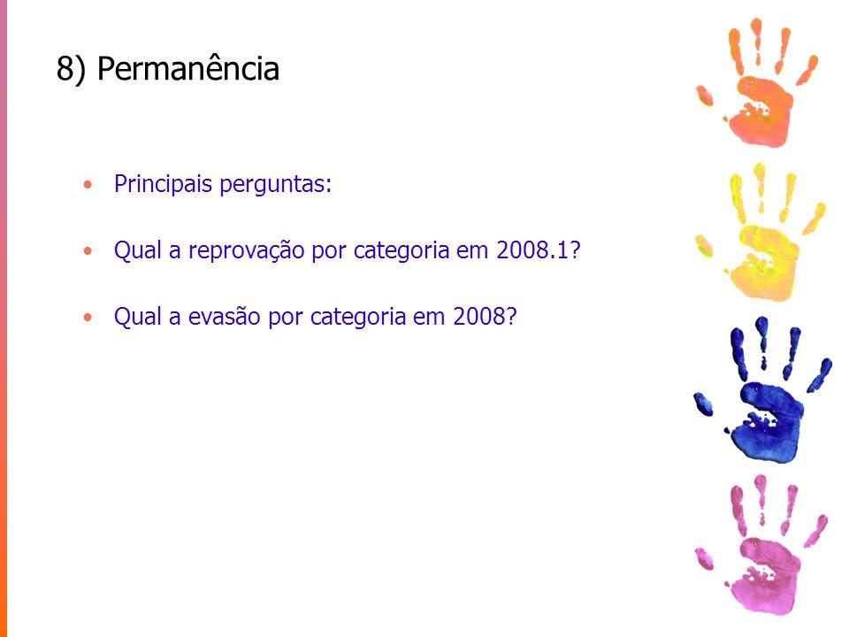 8) Permanência Principais perguntas: