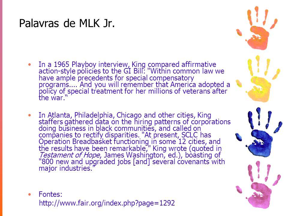 Palavras de MLK Jr.