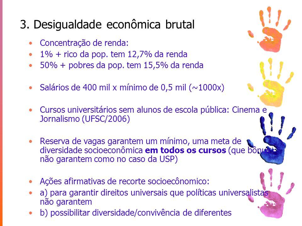 3. Desigualdade econômica brutal