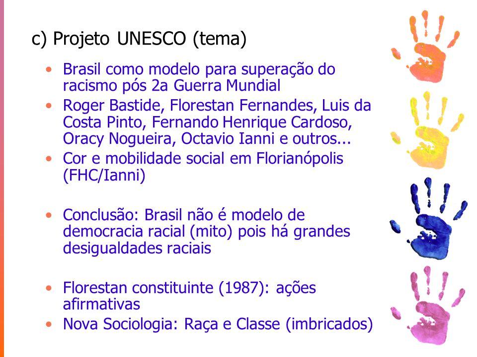 c) Projeto UNESCO (tema)