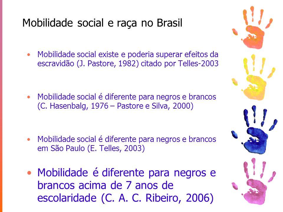 Mobilidade social e raça no Brasil