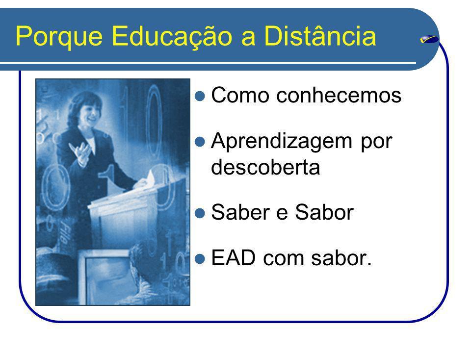 Porque Educação a Distância