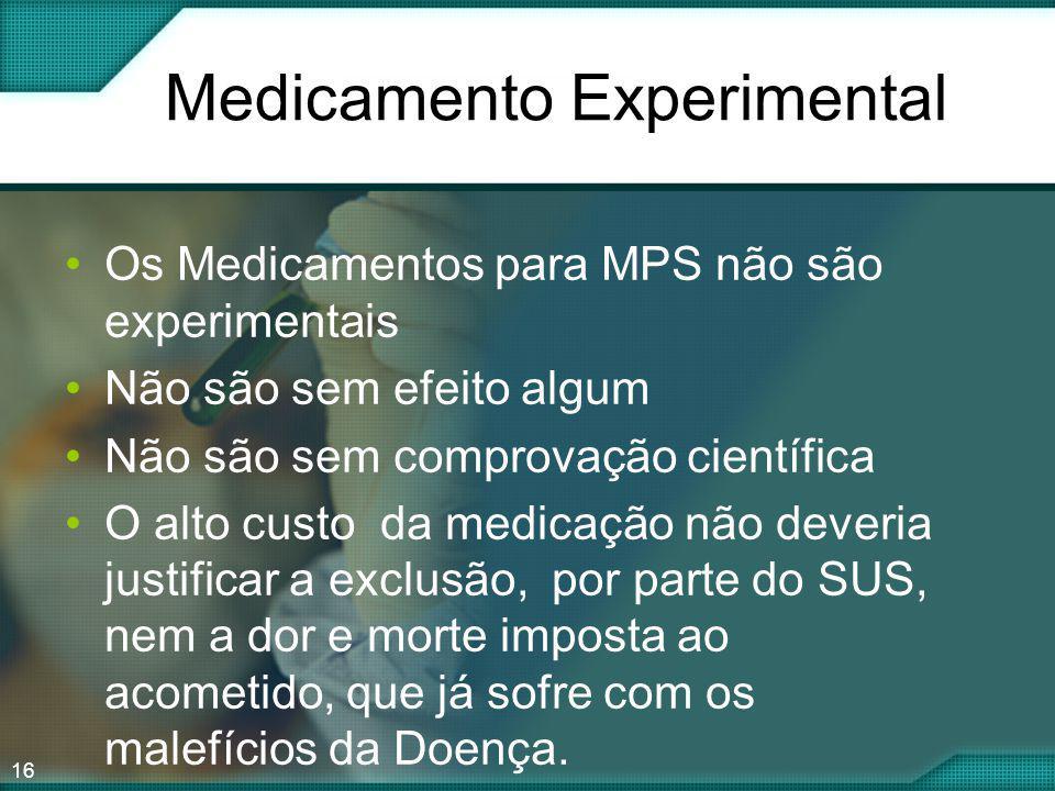 Medicamento Experimental