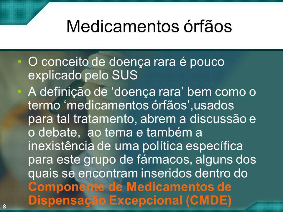 Medicamentos órfãos O conceito de doença rara é pouco explicado pelo SUS.
