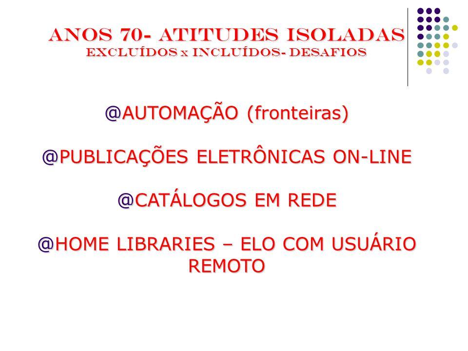 ANOS 70- ATITUDES ISOLADAS