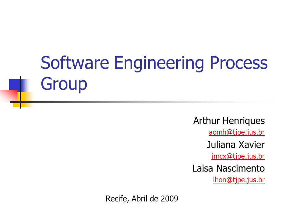 Software Engineering Process Group