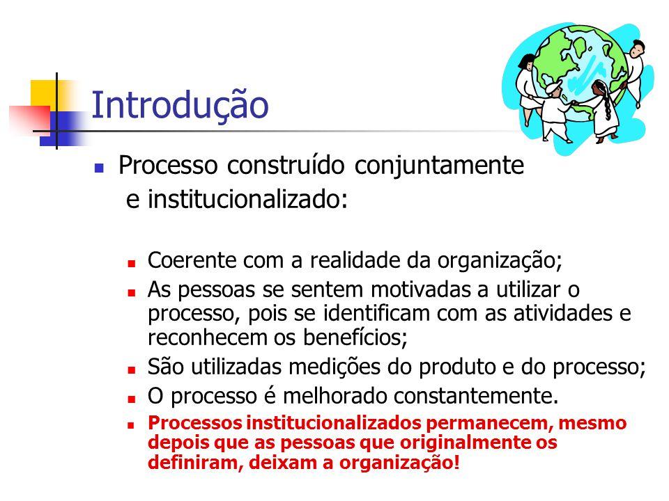 Introdução Processo construído conjuntamente e institucionalizado: