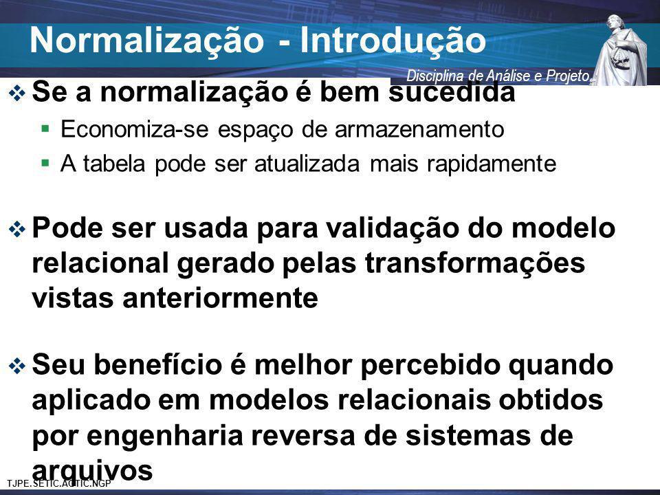 Normalização - Introdução