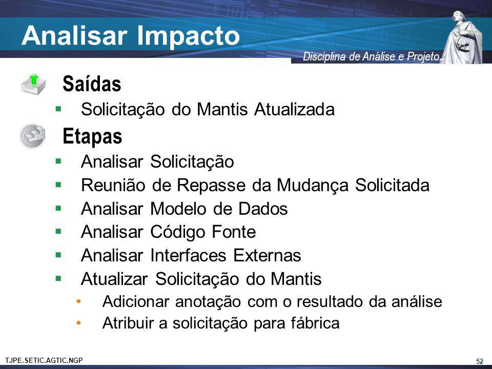 Analisar Impacto Saídas Etapas Solicitação do Mantis Atualizada