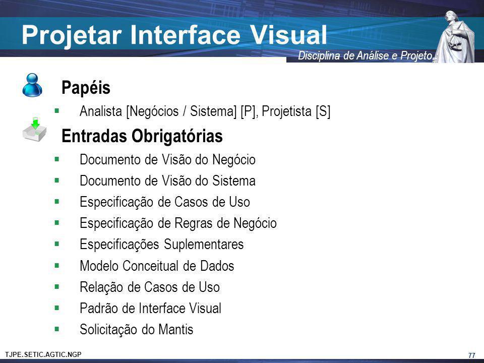 Projetar Interface Visual