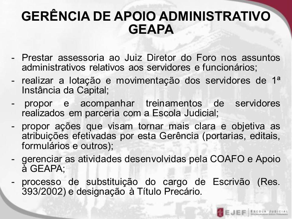 GERÊNCIA DE APOIO ADMINISTRATIVO GEAPA
